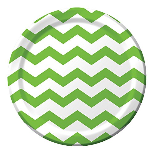 Lime Pattern Paper - Creative Converting Celebrations 96 Count Chevron Paper Dinner Plates, 8.75