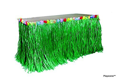 Playscene™ Tropical Party Decorations, Tropical Table Skirts, Tropical Palm Leaves for Luau Party (Table Skirt) by Playscene™