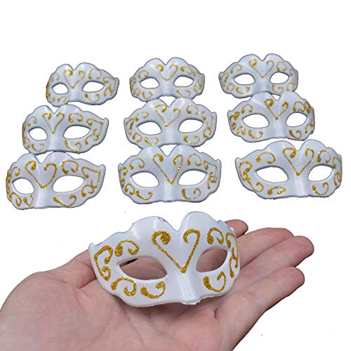 (mini masquerade masks party decorations - Yiseng 10pcs pack supper small mardi gras venetian mask decor party favors for)