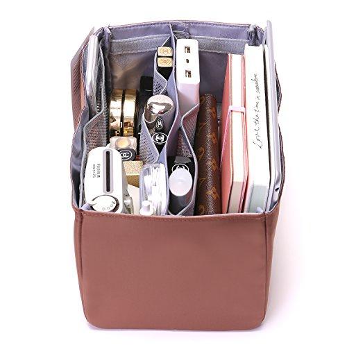 IN Purse Organizer,Handbag Organizer Insert for Speedy 25,30,35 Purse Liner Foldable (Medium, brown) by iN. (Image #5)
