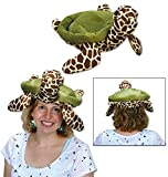 """Pack of 6 Brown and Green Under The Sea Theme Plush Sea Turtle Hat 13.25"""""""