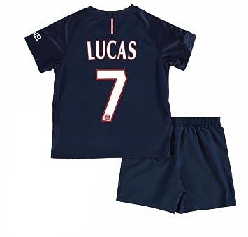 sale retailer 987d9 ae465 Paris Saint Germain FC 7 Lucas Moura Youth Practice Football ...