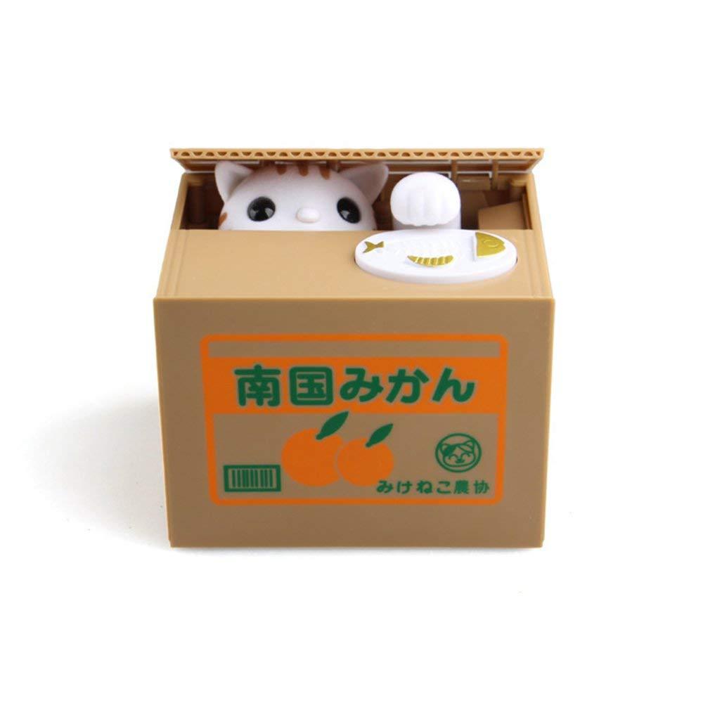 DGdolph Il Denaro Giapponese del Fumetto Che Ruba Il Risparmio di Cat Piggy Bank Mangia Il Contenitore di Monete Toy White Cat