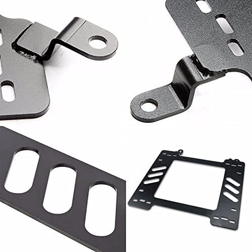 UrMarketOutlet Set of Left /& Right Black Coated Stainless Steel Seat Mount Bracket Adapter for Honda 88-91 CRX DX//HF//Si