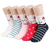 Socksense Hello Kitty Character Series Women's Original Crew Socks (Kitty Me_5pairs)
