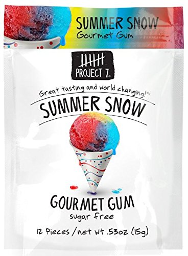 UPC 844911003299, Project 7 Gourmet Gum - Rainbow Ice 15g (2 Packs)