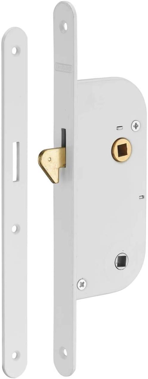 Thirard - Cerradura empotrable con mentoneta de condena. v/br para puerta corredera: Amazon.es: Bricolaje y herramientas
