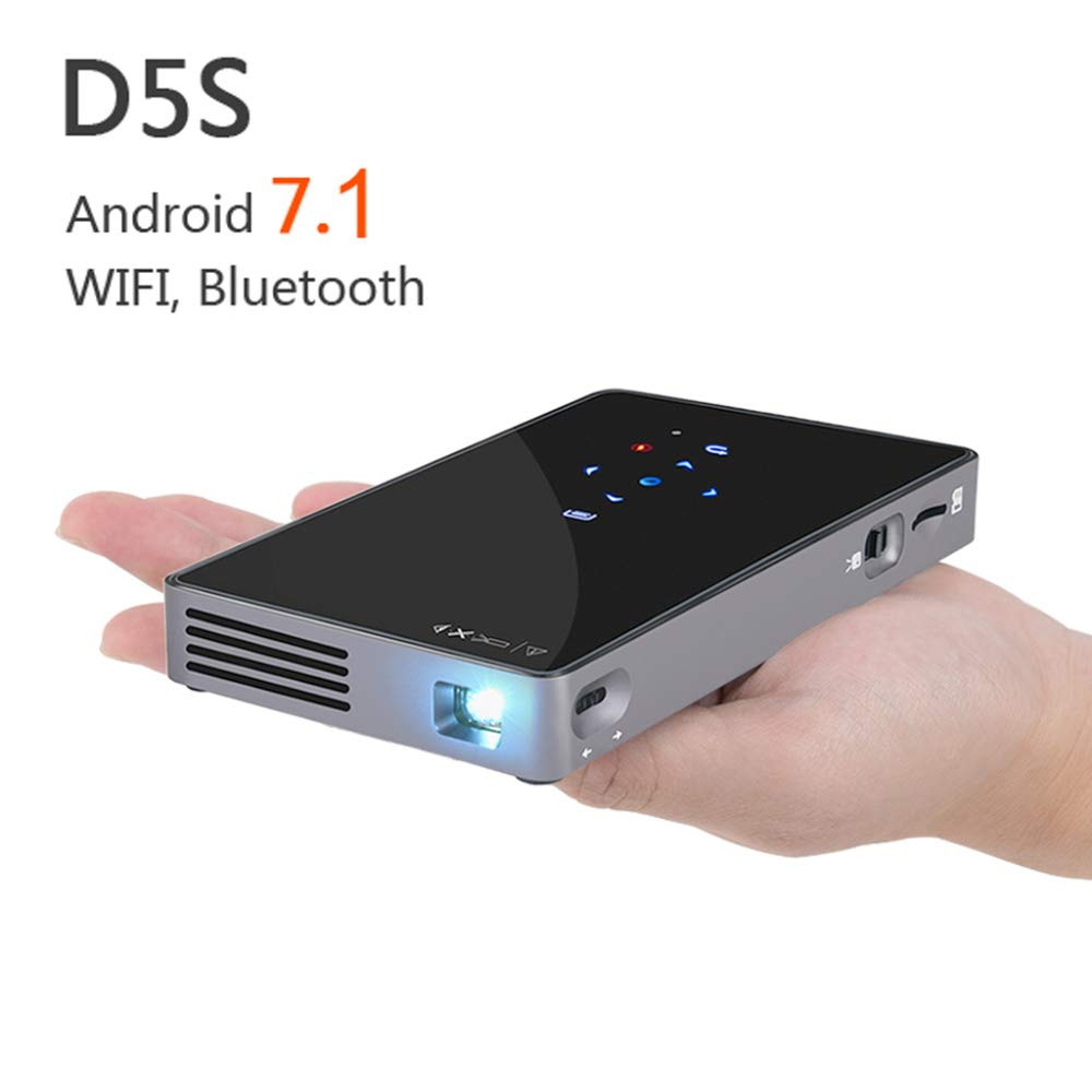 KAIDILA Proyector, Android 7,1 DLP proyector d5s, WiFi Incorporado ...