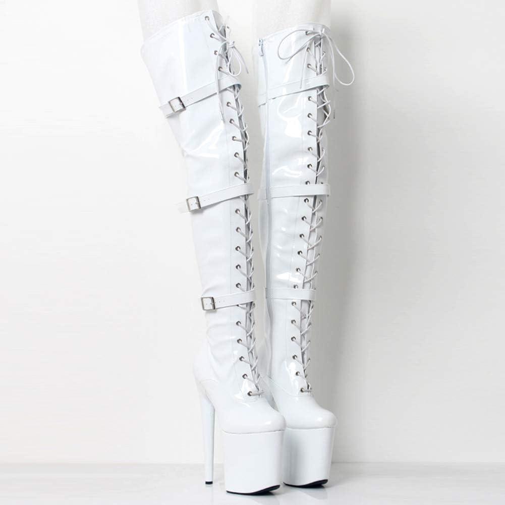 COSY-L Rodilla Botas Altas Mujer Rodilla Botas Tac/ón Alto Largo Botas Altas Las Rodillas Tac/ón Alto Zapatos de Vestir SM Ballet Club Nocturno Queen