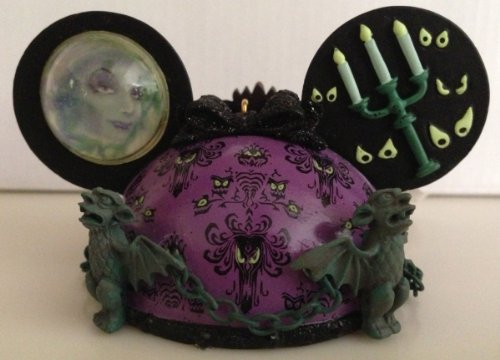 Disney Parks Haunted Mansion Mickey Mouse Ears Hat Ornament NEW (Disney Haunted Mansion Halloween)