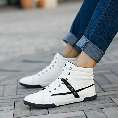 Clearance❤️Men Shoes, Neartime Fashion Men Autumn Leather Footwear Boots High Top Lace-Up Casual Hiking Shoes by Neartime Sandals (Image #1)