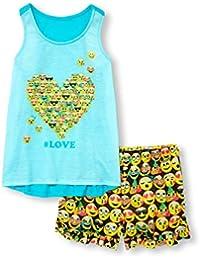 Big Girls' Top and Shorts Pajama Set