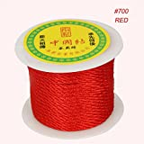 27yard/roll 3mm Red Nylon Cord Chinese Knot Cord Macrame Rope Beading Thread String for DIY Jewelry Craft Making