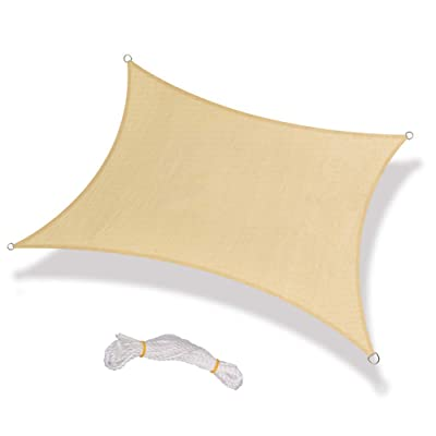 BELUPAI Sun Shade Sail, 8 x 8ft/ 7 x 10ft Sail Polyester Oxford Cloth Canopy Sun Awning for Patio Garden Outdoor Facility and Activities : Industrial & Scientific