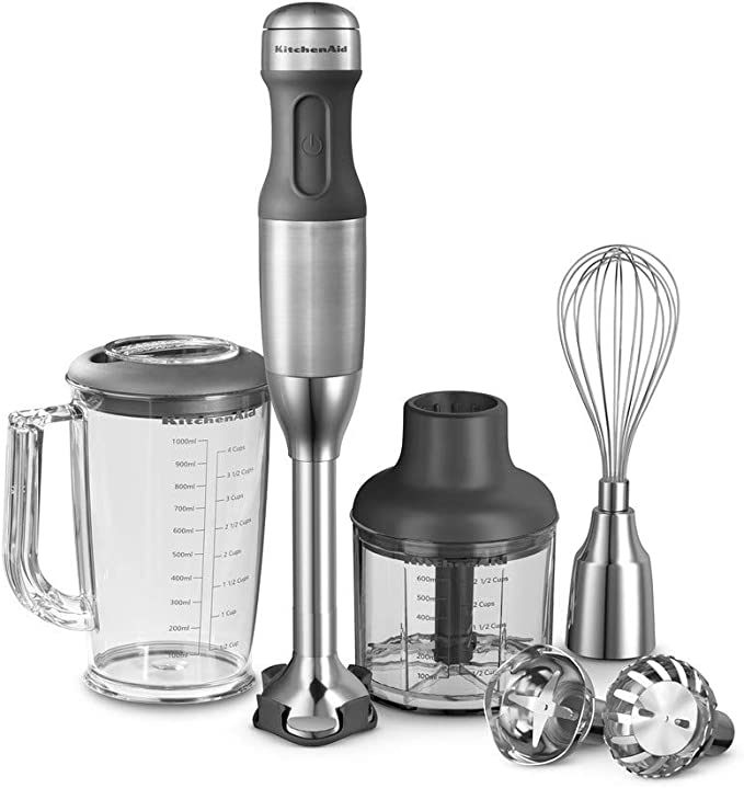 KitchenAid 5KHB2571 - Licuadora (Acero inoxidable, Corriente alterna, 6.5 cm, 6.5 cm, 39.7 cm): Amazon.es: Hogar