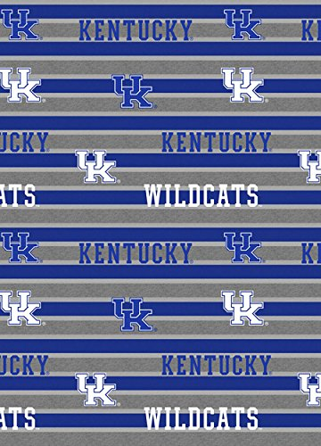 Kentucky Wildcats Fabric - UNIVERSITY OF KENTUCKY COTTON FABRIC-KENTUCKY WILDCATS POLO STRIPE COTTON FABRIC-NEWEST DESIGN-SOLD BY THE YARD
