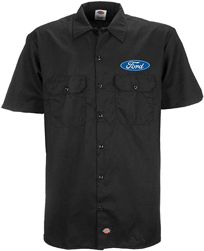 GALLOPIN Gasser 57 HOT Rod - Officially Licensed Back Ford Dickies Work Shirt