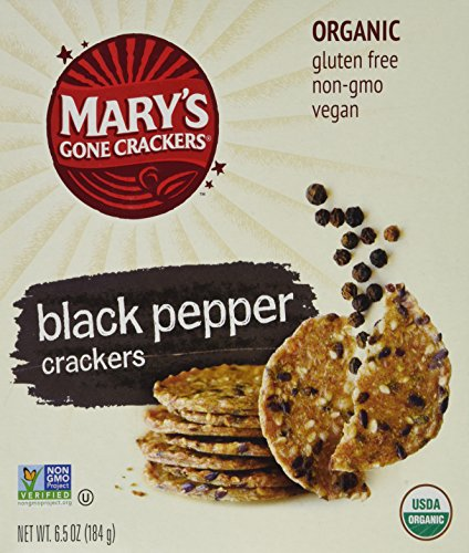 Mary's Gone Crackers, Black Pepper, 6.5-ounce Boxes (3 - Gone Crackers