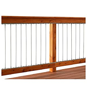 Dolle Insta Rail Vertical Cable Railing Inserts For Deck