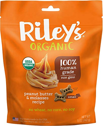 Riley's Organics Peanut Butter and Molasses Bone, Small 5 oz.