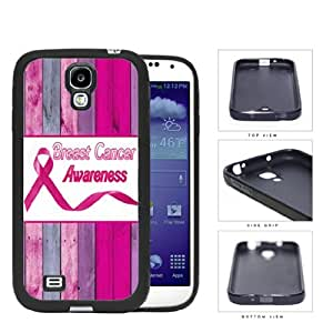 Breast Cancer Awareness Pink Wood Fence Rubber Silicone TPU Cell Phone Case Samsung Galaxy S4 SIV I9500
