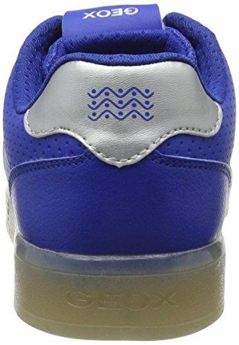 Geox J Kommodor B, Zapatillas para Niños Azul (Royal/silver)