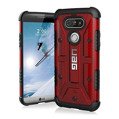UAG LG G5 Feather-Light Composite [Magma] Military Drop Tested Phone Case 360 Cushioned Cotton Series