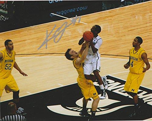 (Kalin Lucas Michigan State Spartans NCAA 8x10 Autographed Photo - vs Michigan)