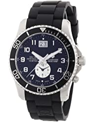 Victorinox Swiss Army Mens 241440 Maverick GS Dual Time Black Double Date Dial Watch