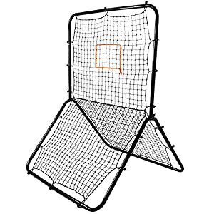 Crown Sporting Goods Multi-Sport Rebounder Pitch Back Screen with Adjustable Target