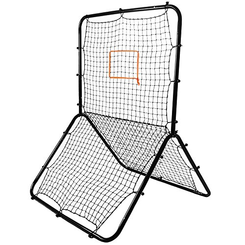 Image of Crown Sporting Goods Multi-Sport Rebounder Pitch Back Screen with Adjustable Target