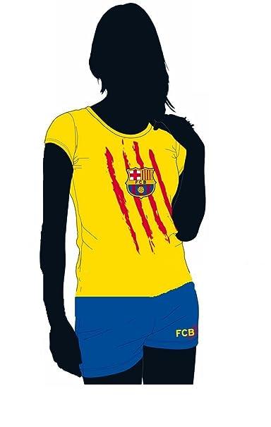 FCB Pijama Mujer FC Barcelona Amarillo (S)