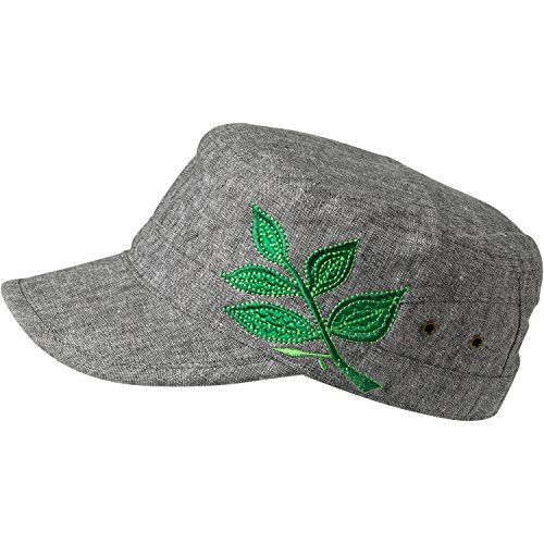 Embroidered Cadet Hat - Turtle Fur Branch Out Women's Lightweight Adjustable Cadet Cap, Green