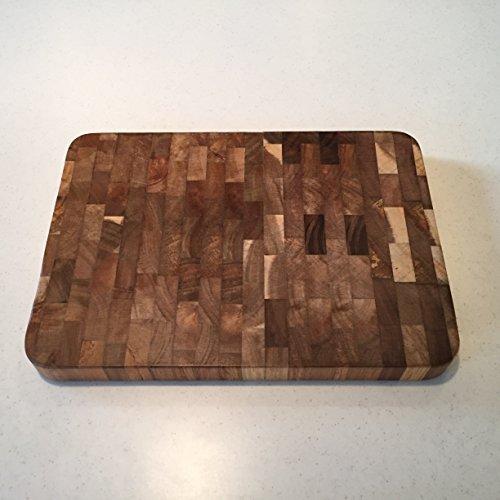 Genzr Home Organic Acacia Wood End Grain Cutting Board (Small)