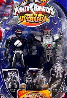Power Rangers Operation Overdrive 5-Inch Mach Morphin Power Ranger Action Figure- Sentinel Zord Black ()