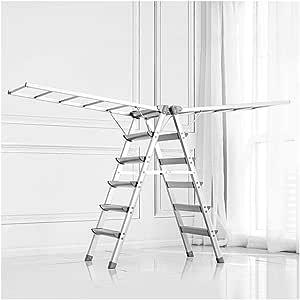 Escalera Doméstica Estante De Secado De Piso Interior Escalera De Engrosamiento De Aleación De Aluminio Multifuncional Plegable 4/6 Pasos,Silver-6step: Amazon.es: Hogar