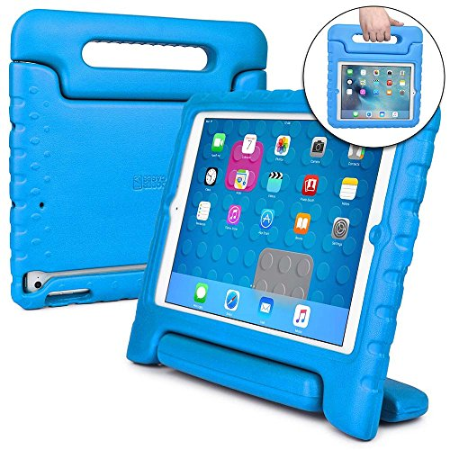 Cooper Dynamo [Rugged Kids Case] Protective Case for iPad Mini 3 2 1 | Child Proof Cover with Stand, Handle | A1599 A1600 A1601 A1490 A1491 (Blue)