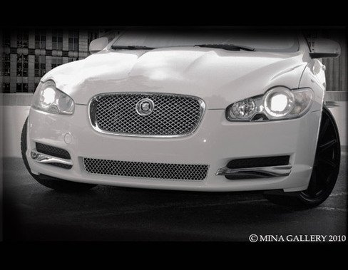 Jaguar XF Lower Bumper Middle Mesh Grille Overlay 2007 - 2011 models by Mina Gallery