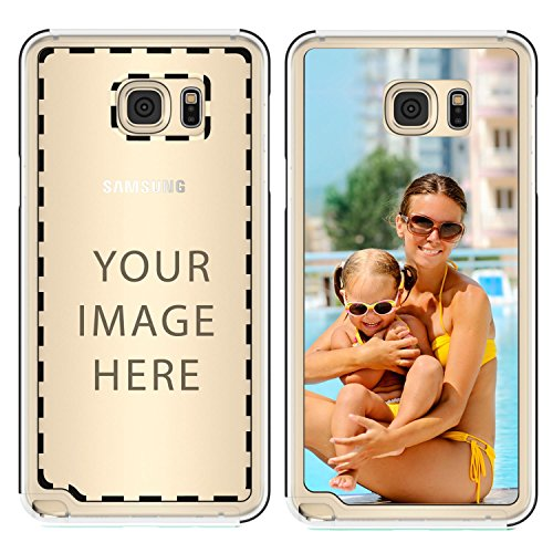 (True Color Case Compatible with Samsung Galaxy Note 5 Custom Case, Personalized Custom Picture HD Printed on Slim Hybrid Bumper Cover by - Clear)