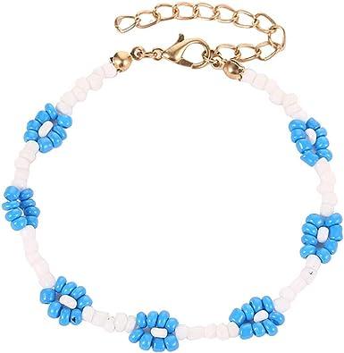 Beaded bracelet Waterproof bracelet Leaf charm bracelet Boho bracelet Gift for her Everyday comfy jewelry Friendship bracelet