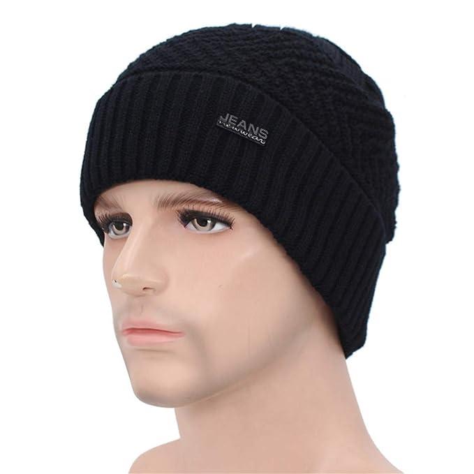 Skullies Beanies Winter Hats for Men Knitted Hat Women Baggy Mask Soft Winter Beanie Bonnet Warm Male Caps