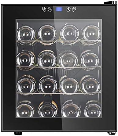 LLZH Refrigerador Enfriador de Vino, Vinoteca Termoeléctrica, Mini Refrigerador para Vinos de Encimera, Temperatura y Humedad Constantes,16 Bottles