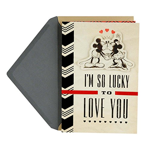 Hallmark Father's Day Greeting Card for Husband or Significant Other (Disney's Mickey and Minnie Mouse)