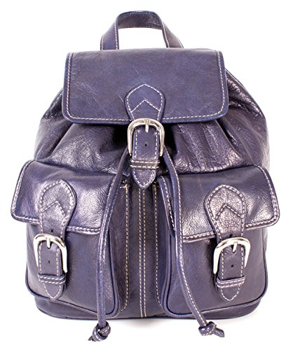 Oxbridge Satchel Shop, cartable moyen violet pour femme