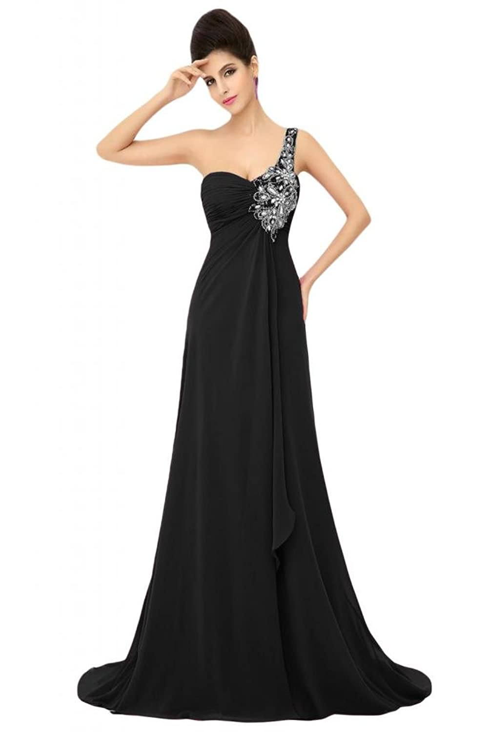 Sunvary Formal Evening Prom Dresses Chiffon A-line One Shoulder Mother Of Bride Gowns