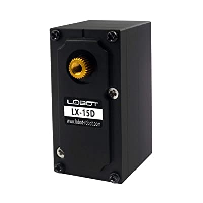 Hiwonder LX-15D High Torque Durable Full Metal Gear Serial Bus Servo with Real-Time Feedback of Position Voltage Temperature, RGB Color Indicator, Metal Horn for Robot: Toys & Games