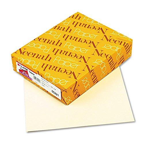 Neenah Paper 05221 CLASSIC Linen Writing Paper, 24lb, 8 1/2 x 11, Baronial Ivory, 500 Sheets by Neenah