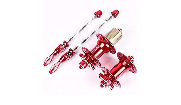 DIYARTS Buje Bicicleta 24 28 32 Agujeros Freno Disco Rodamiento Sellado Ultraligero Bicicleta Carretera MTB (Red-28): Amazon.es: Deportes y aire libre