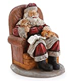 Figure of Santa in Chair with Puppies