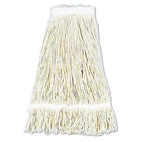 (Unisan Pro Loop Web/Tailband Wet Mop Head, Cotton, 24-oz, White - UNS424C)